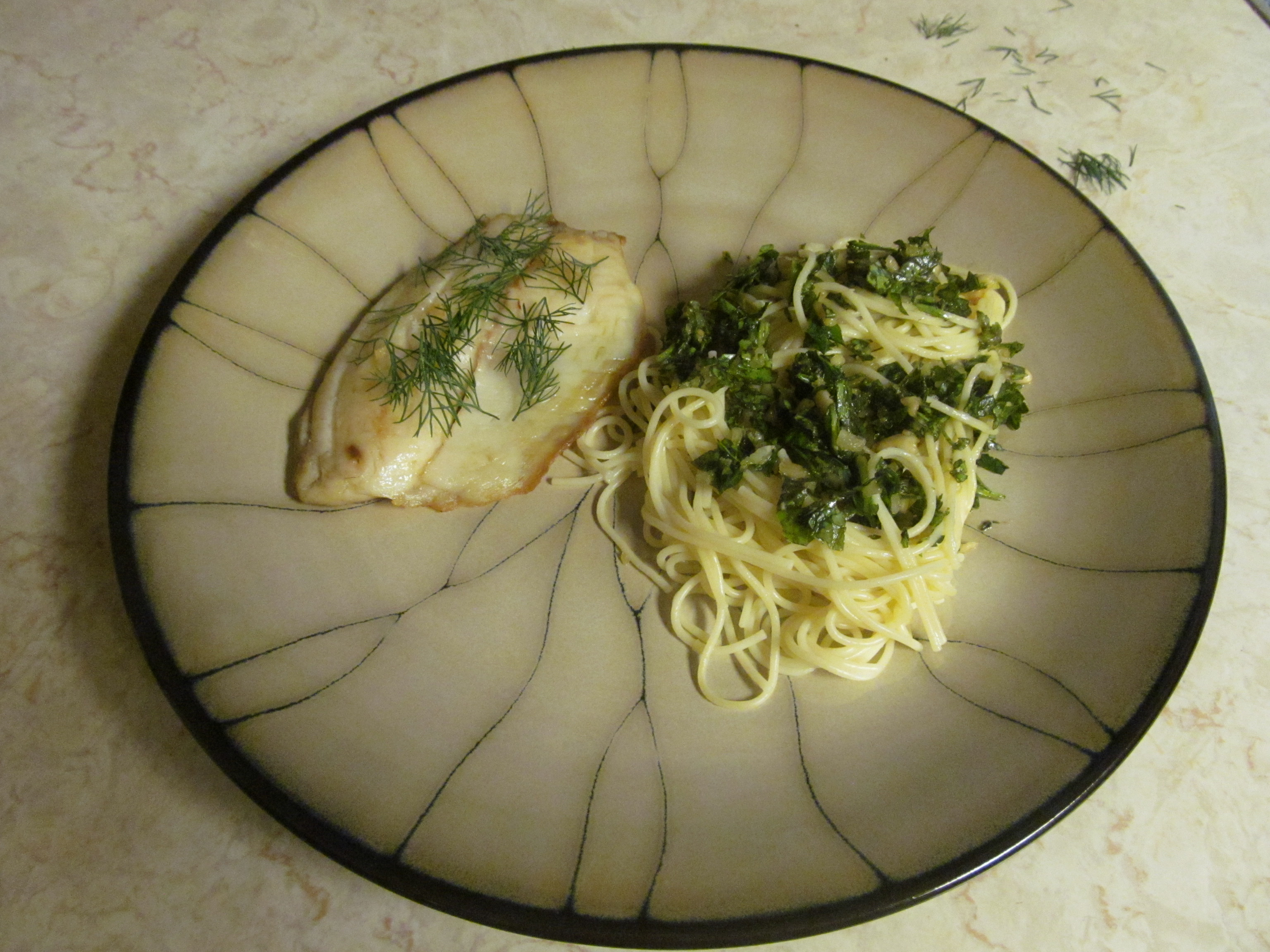 Talapia with Dill